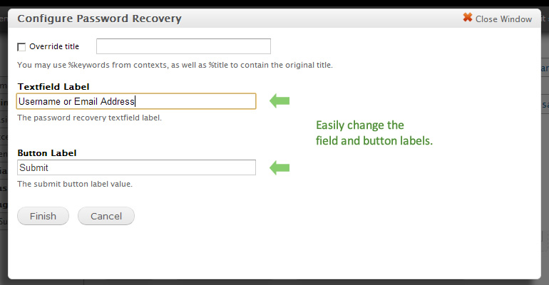 Password Recovery Panels Widget | Drupal.org