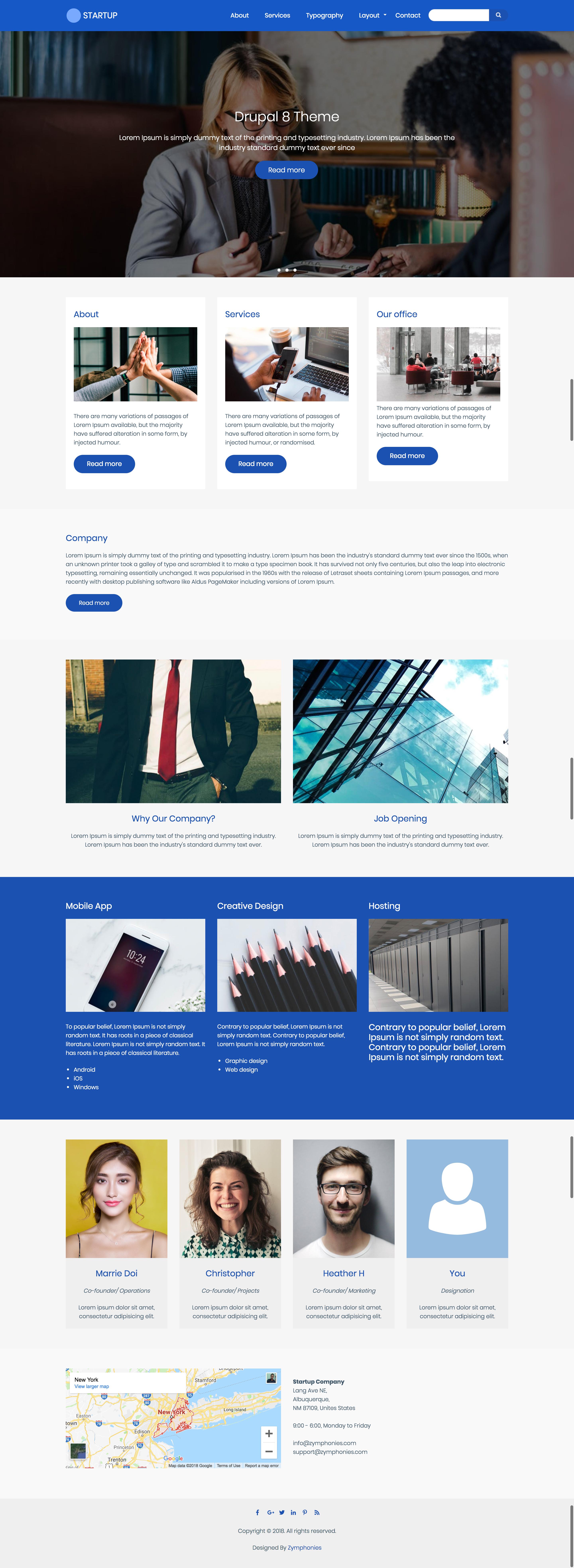 Startup Zymphonies Theme | Drupal org