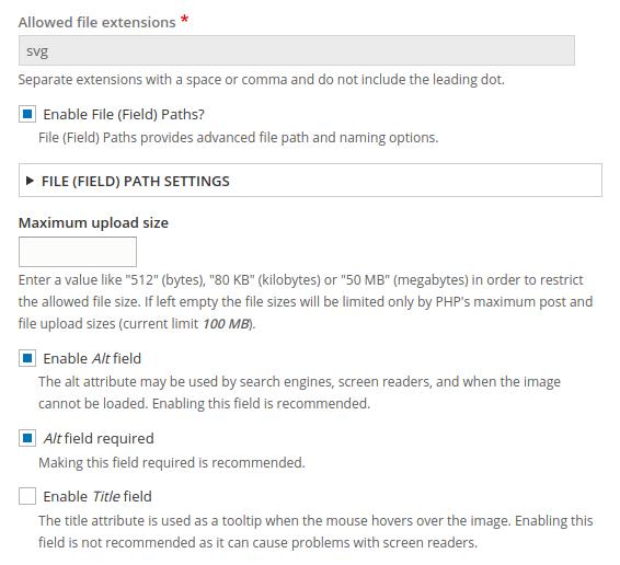 SVG image field | Drupal org