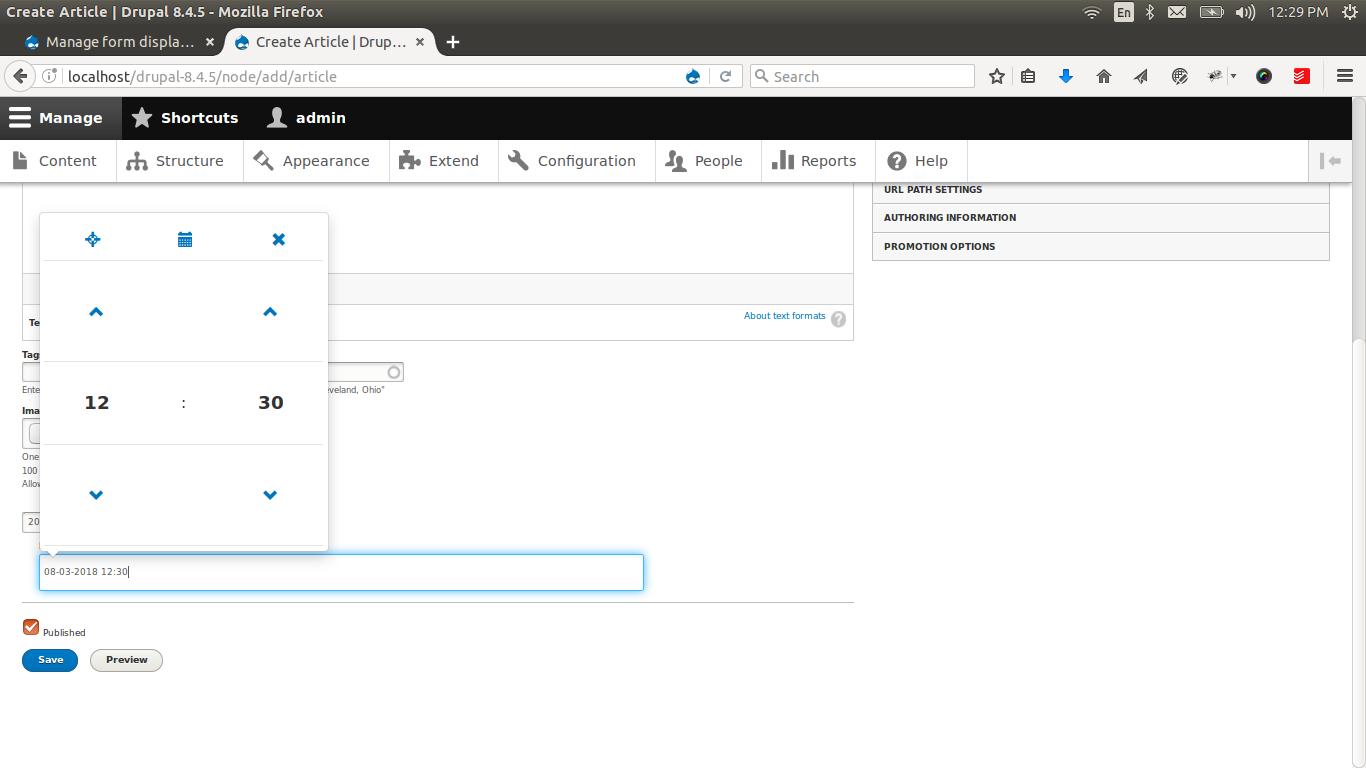 Bootstrap DateTime Picker | Drupal org
