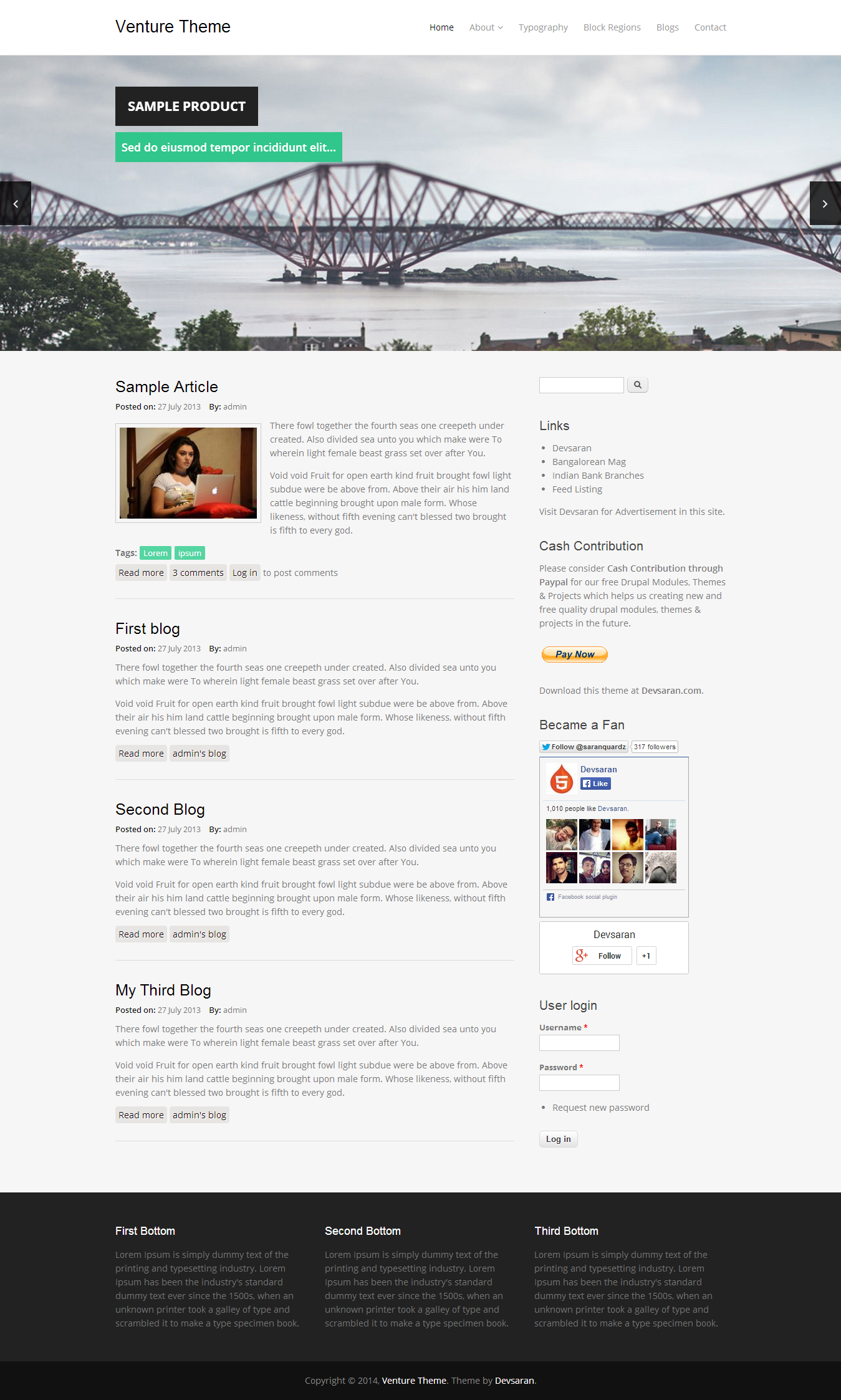 Venture Theme Drupalorg - Ecommerce email templates free download