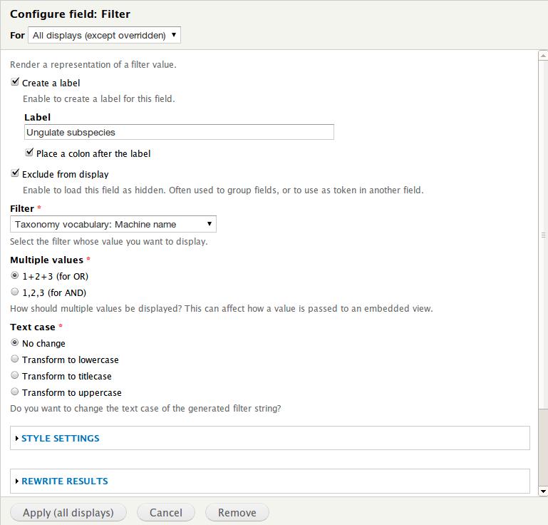 Views Filter Field | Drupal org