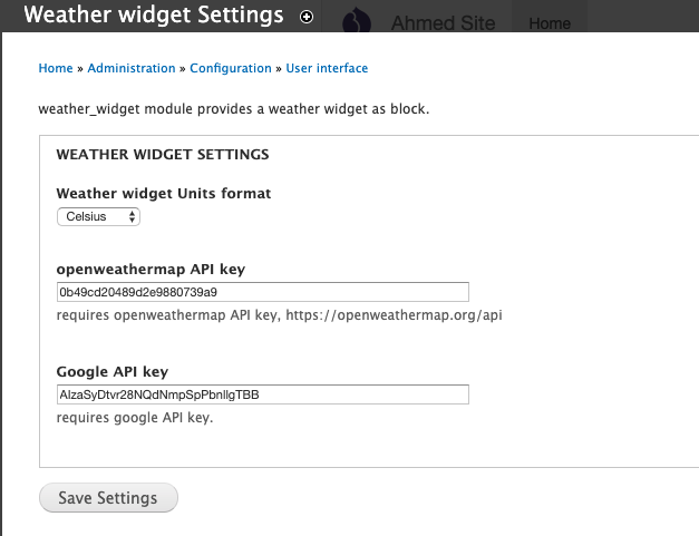Weather Widget | Drupal org