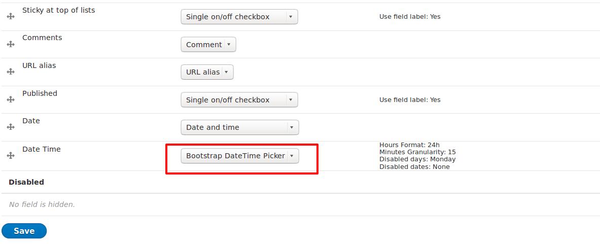 Bootstrap DateTime Picker   Drupal org
