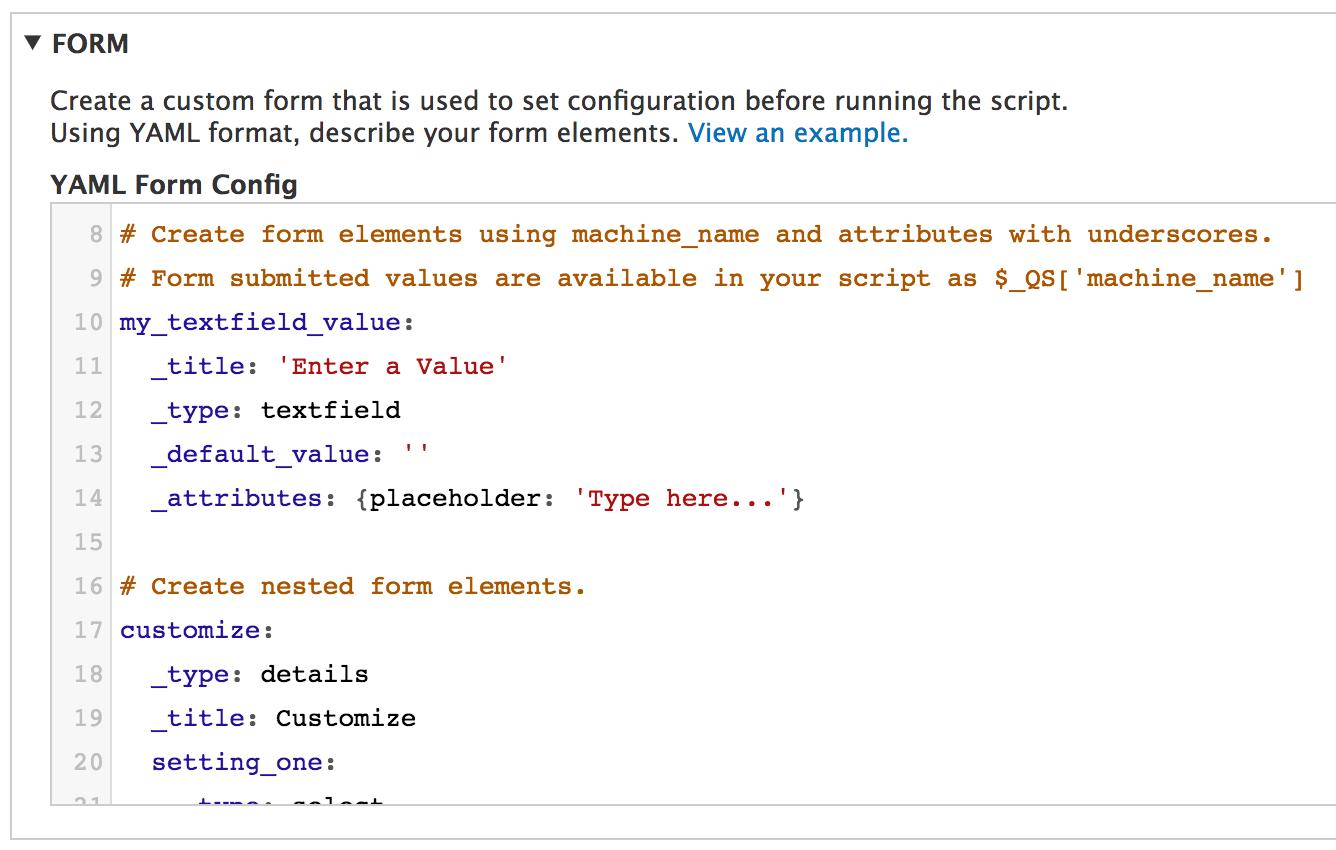 Quickscript Drupal