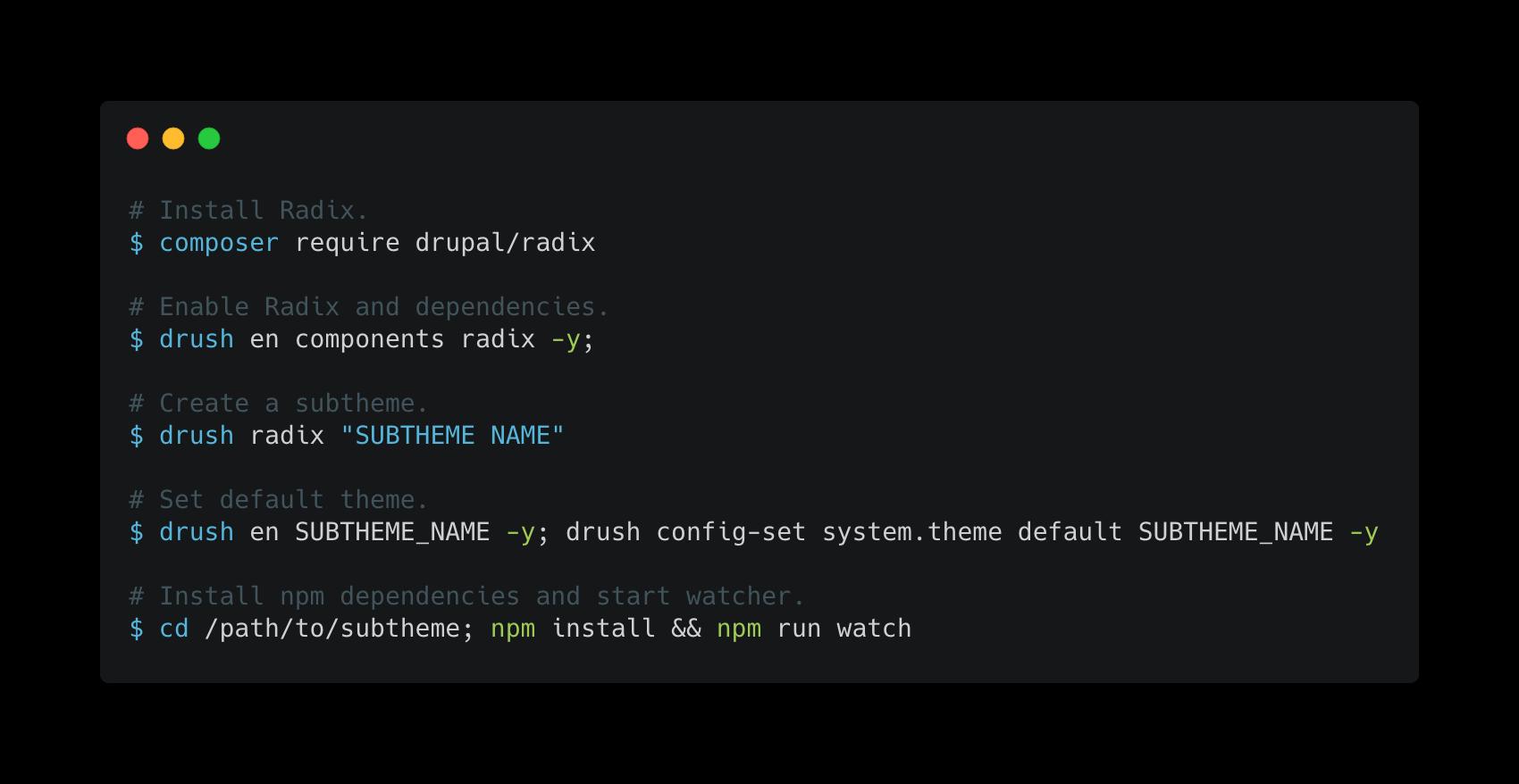 Radix   Drupal org
