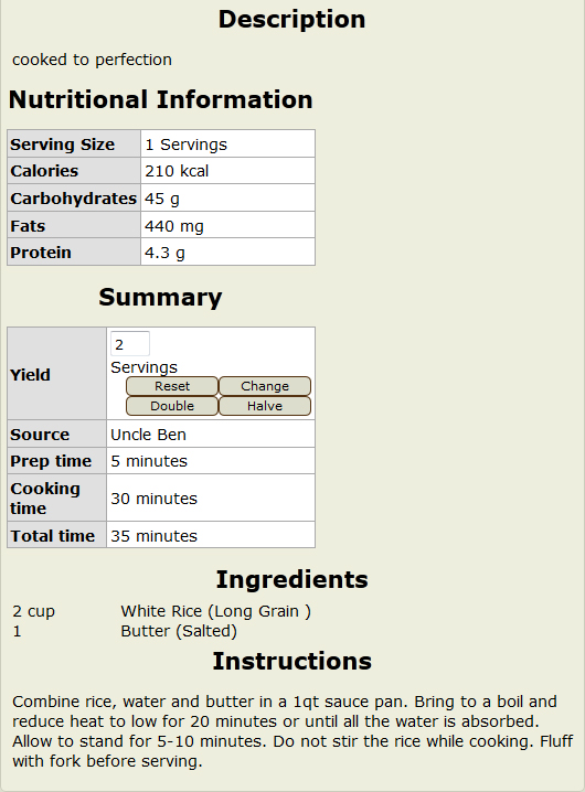 Support for integration with usda nutrition database 107806 144 recipeviewg forumfinder Choice Image