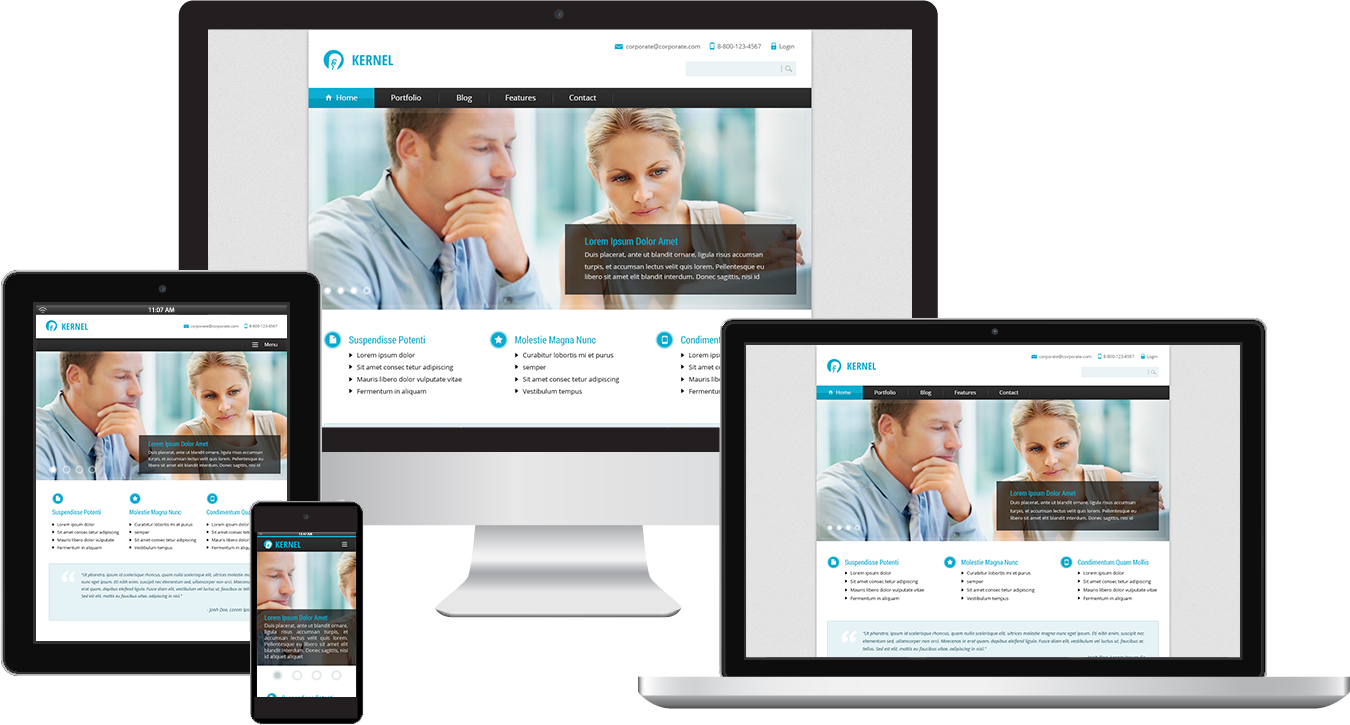 Clean corporate theme responsive