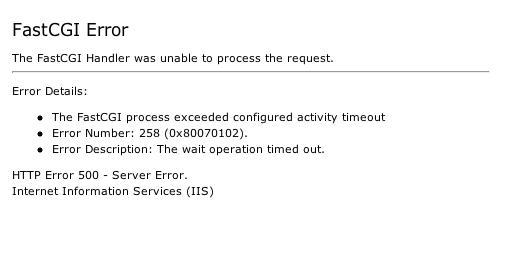 Fast CGI Error/MySQL server has gone away [#1427402