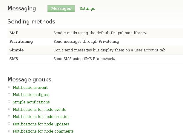 Configuration: Message templates | Drupal.org