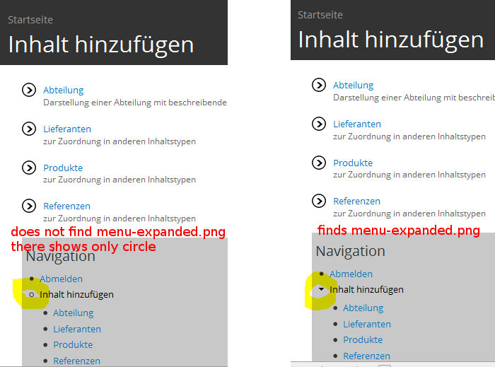 Path correction in style css for list-style-image:url