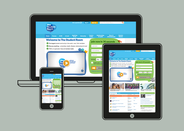 The Student Room homepage on all devices