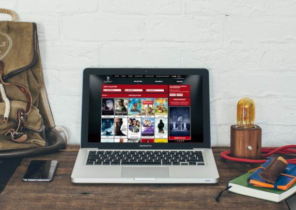 Nordisk Film Website displayed on laptop screen