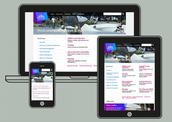 Screen shots of Brighton and Hove City Council website by miggle