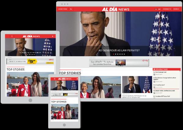 AL DÍA News Web Design
