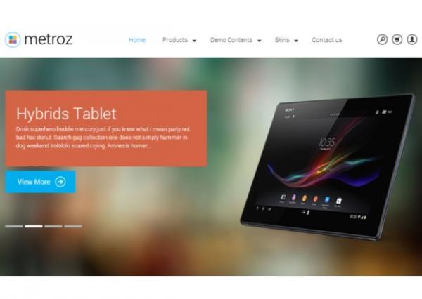 TB Metroz - flat design eCommerce drupal theme
