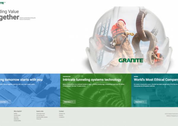 Granite Construction homepage