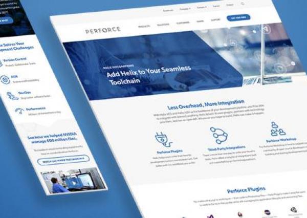 Perforce Software B2b website