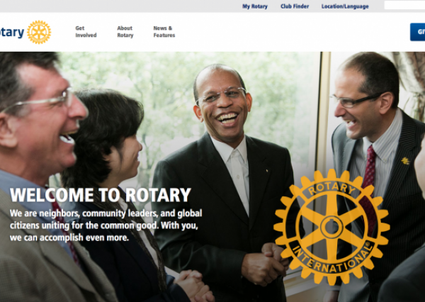 Front page of Rotary International's Drupal site