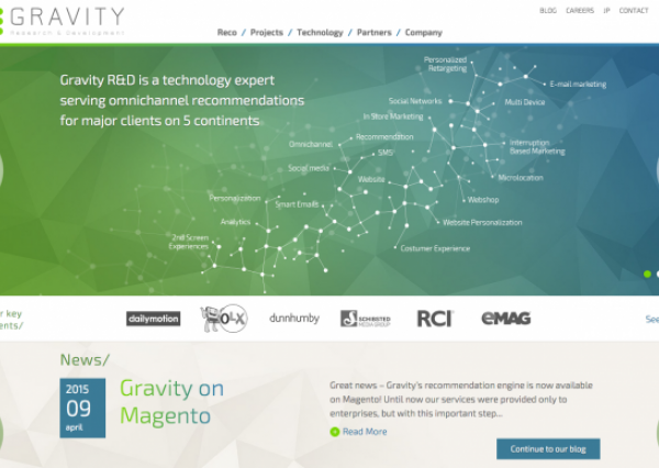 Gravity R&D Drupal 8 homepage by BRAINSUM