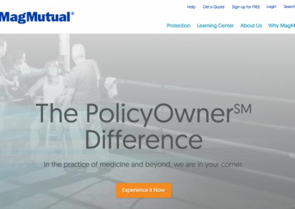 Magmutual.com homepage