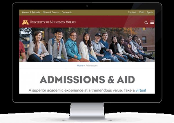 Screenshot of www4.morris.umn.edu/admissions-aid