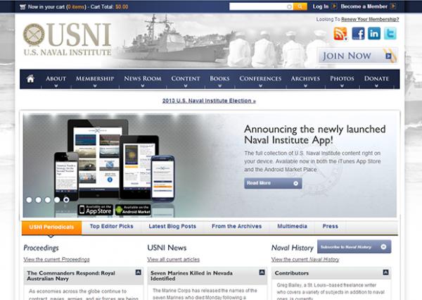 USNI homepage