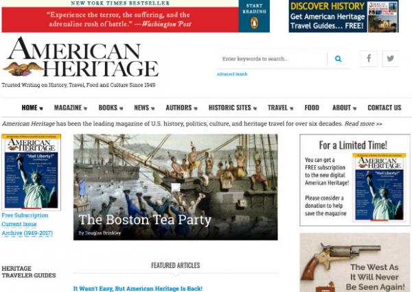 American Heritage Magazine Digital Publication relaunched on Drupal 8