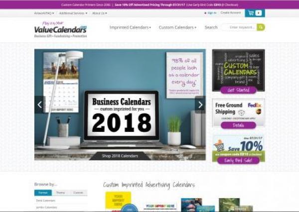 value calendars homepage