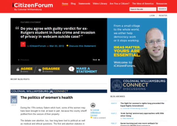 The home page of iCitizenForum.com