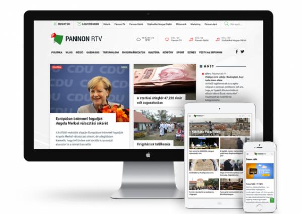News portal for media house - PannonRTV