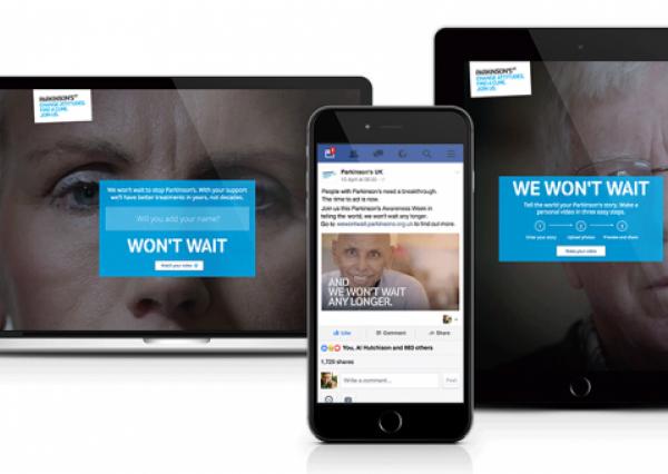 Parkinson's UK, We Won't Wait home page