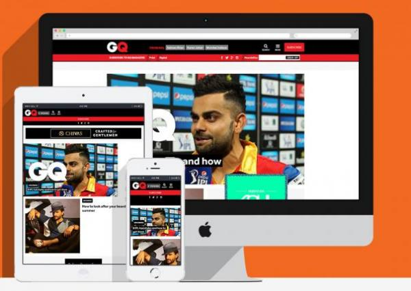 GQ India Site Redesign and Mobile Site