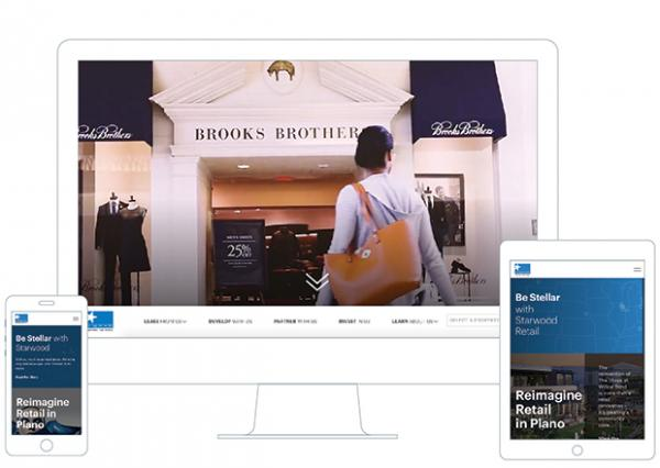 Starwood site displayed on multiple devices