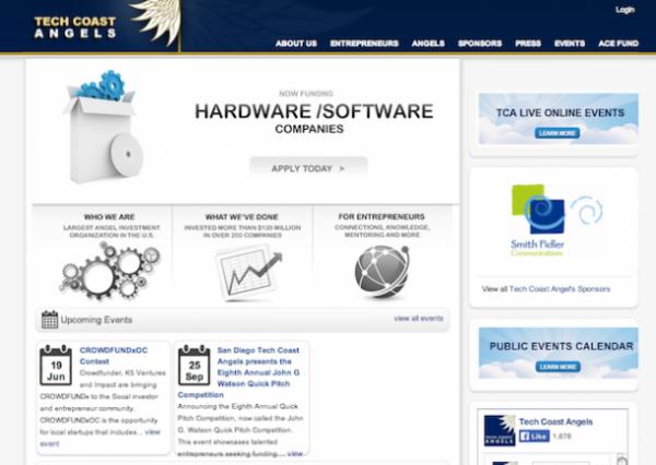 Tech Coast Angels home page