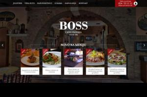 Boss Caffe - Front page