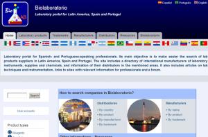 Biolaboratorio frontpage (English version)