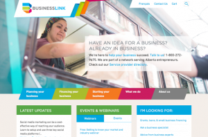 Business Link homepage