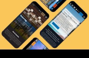 Mobile screen representation of websites