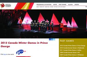 2015 Canada Winter Games Drupal Homepage