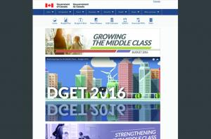 Economic Action Plan for the Canadian Privy Council Office Drupal Homepage