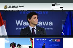 Canadian Prime Minister's Office Drupal Homepage
