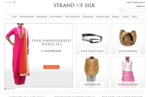 Strand of Silk - Indian Designer Fashion - Home Page