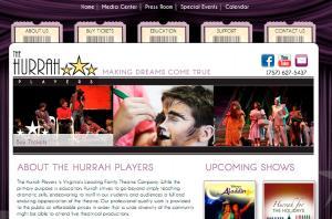 HurrahPlayers.com homepage screenshot