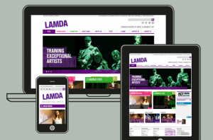 Various screenshots of LAMDA website on multiple devices