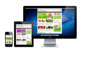 Lightflows web design - Love the garden website composite