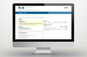 The LMS dashboard from NATA's professional development center website