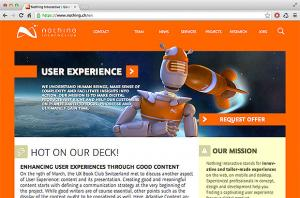 The website of Nothing Interactive, based on Drupal