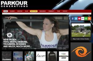 Parkour Generations homepage