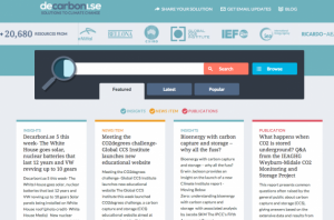 Decarbonise homepage screen shot